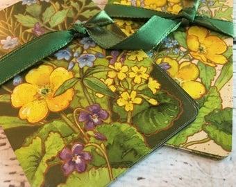 Delicate Flower Swap Cards (10) Vintage Single Swap Playing Cards ~Paper Ephemera ~