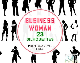 23 Business Woman Silhouette, Business Lady Clipart, Woman Svg, Woman Clipart, Business People Clipart, People Svg, People Clipart, Svg File