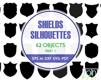 Shield Svg, Shield Clipart, Shield Silhouette, Badge Svg, Police Badge Svg, SVG Sign, Svg Files, Svg Silhouette, Vector Svg, EPS Files