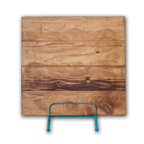 Canvas reclaimed wood blank sign rustic wall art diy for Reclaimed wood suppliers