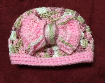 Baby Beanie with Bow