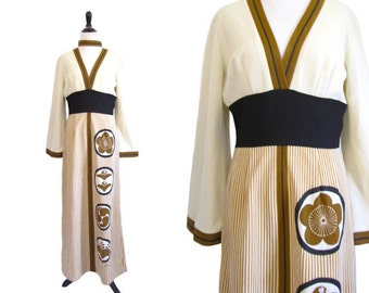 Vintage 1970's Alfred Shaheen Maxi Dress