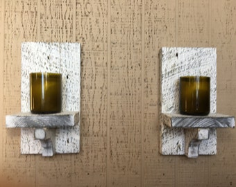 Wall sconce/ candle shelf