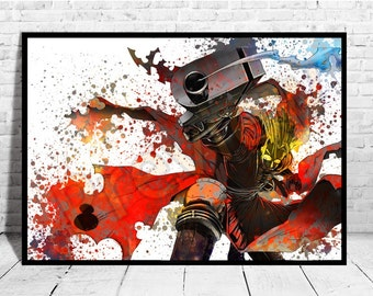 Vash The Stampede Anime Art, High Quality Unique, Anime Watercolor, Anime Poster,Anime Canvas ,Buy any 2 get 3rd FREE,AG108
