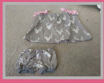 Handmade Pillowcase Dress with Matching Bloomers (example)