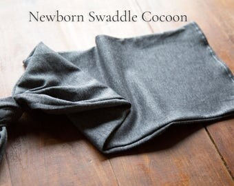 Newborn Swaddle Cocoon - Jersey Knit Cotton Blend