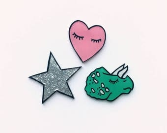 Cute pin set