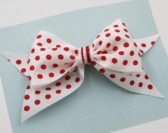 Polka Dots Large Bow Hair Clip