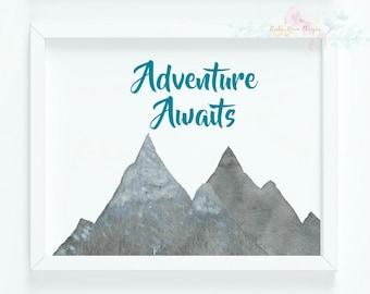 Adventure Awaits|Woodland Nursery|Rustic Decor
