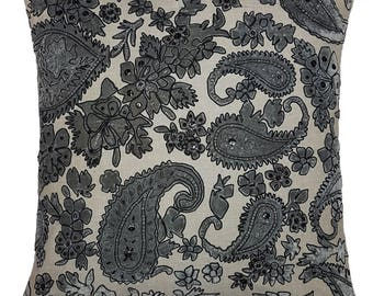 One Of A Kind Embellished paisley 43x43cm Cushion