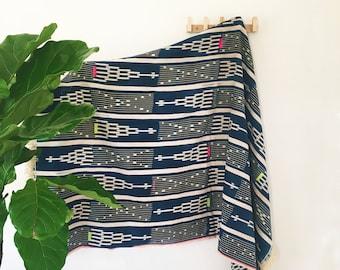Stacy | Blue Neon | Handmade African mud cloth