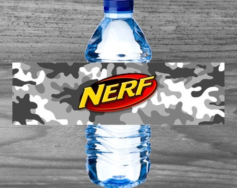 Nerf Party Water Bottle Wraps