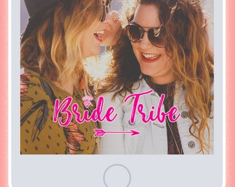 Bride Tribe Pink Neon Bachelorette Party Snapchat Filter - Instant Download!