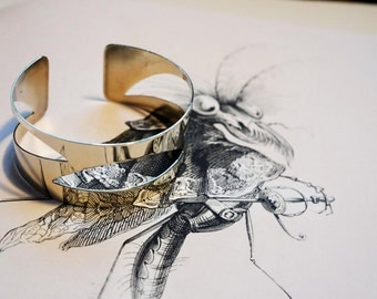 """Three crescents"" bracelet"