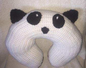Crochet Panda Travel Pillow