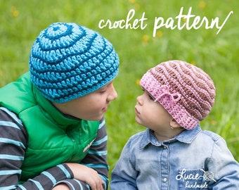 Crochet Hat PATTERN No.13 - Spring Hat Crochet Pattern, Autumn Hat, Crochet pattern hat, UNI hat pattern, Wavelets hat crochet