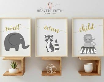 Animal Nursery Art, Animal Nursery, Animal Nursery Prints, Animal Nursery Decor, Woodland Nursery, Woodland Baby Shower, Woodland Decor