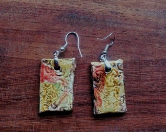 handmade ceramic earrings multi colors