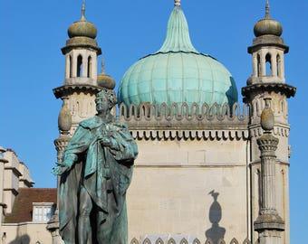 Brighton Statue of George IV, Brighton, statue, Brighton Pavilion, photo print, Scenic Photography, Picturesque print,