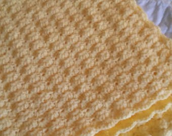 Buttercup Yellow Afghan