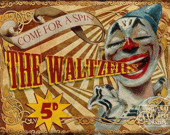 The Waltzers  Vintage Retro Style Metal Sign Funfair Circus Carnival Great Collectable