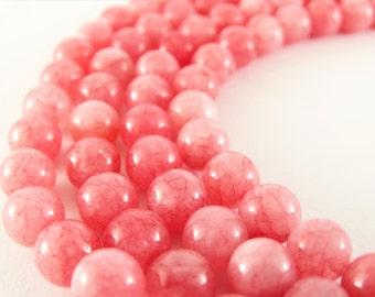 8 mm strawberry quartz beads strawberry beads smooth quartz beads pink beads strawberry stones strawberry gemstone full strand pink quartz