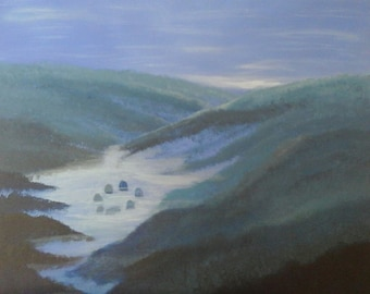 Hidden Valley - an original acrylic painting signed by the artist
