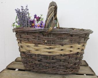 Fruit Basket/Potato Basket/Storage Basket/ Wicker Basket/Reed Basket/Willow Basket/ Farm Basket/SALE (0022M)