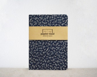 Blue flowered notebook