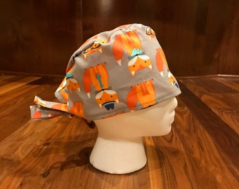 Cute Fox Scrub Hat