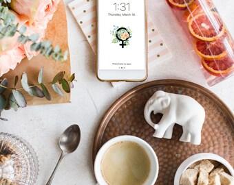 iPhone Wallpaper - Feminist - Cell Phone Wallpaper, Feminism, Mobile Phone Wallpaper, Personalized phone wallpaper, iPhone background