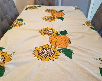 Sunflower Embroidery Tablecloth