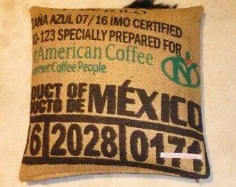 "Coffee sack ""MEXICO"", ca. 40 x 40 cm"