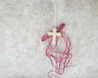 Cross Orthodox Easter Candle - lambatha