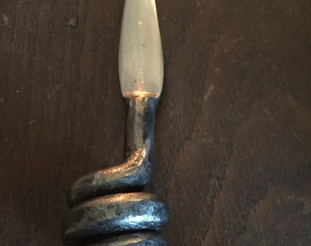 Hand Forged Bee Hive Letter Knife