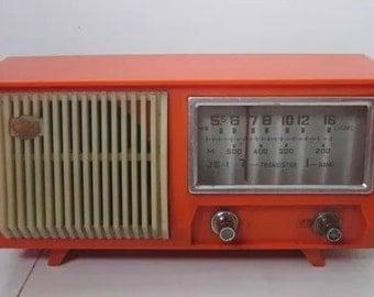 orange retro radio made in China