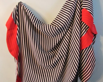 PRICE DROP Vintage Carlisle Square Silk Striped Scarf