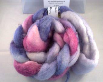 Alpakca hand dyed roving top 100 g - hand-dyed Alpaca fibres