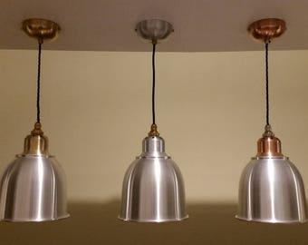 Bespoke Handmade Aluminium,Copper.Brass Pendent Lights