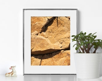 Orange Rock Print Digital Download Printable Art Nature Print Geology Wall Art Sandstone 8x10 Print Living Room Art Bathroom Decor Zen Rock