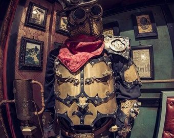 Steampunk Fantasy Medieval breast armor Cosplay