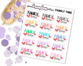Family Time - planner stickers happy planner erin condren