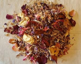 Assorted Dried Flower Petals (4 cups) / Wedding Decor / Bridal Petals