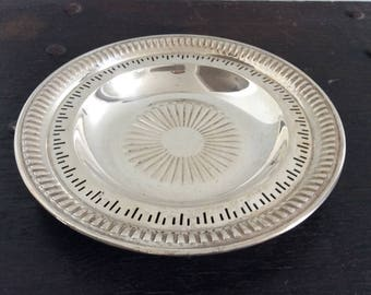 Sterling Silver Platter / Tray / Candy or Cold Meat Dish / Charcuterie / 925