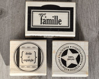 set of 3 stamps