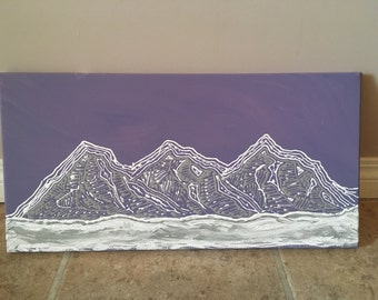 Canadian rockies - acrylic painting