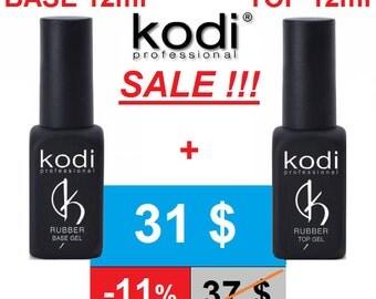 SALE! 2pcs! Rubber Base + Rubber Top 12ml. Kodi Professional - Gel LED/UV