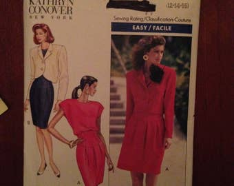 Butterick pattern 6563 for woman's dress and jacket