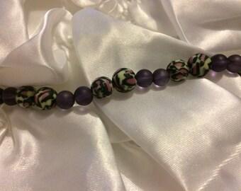 Braclet leopard print beads