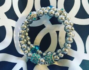 Beaded and stones bracelet